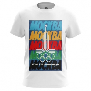 Merch Men'S T-Shirt Moscow 1980 Olympic Games Clothing Top