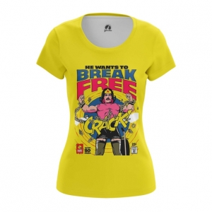 Merchandise Women'S T-Shirt Break Free Freddie Mercury Top