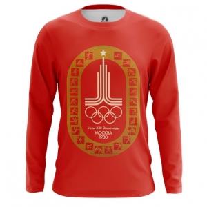Merch Men'S Long Sleeve Olympic Games 1980 Symbols Red