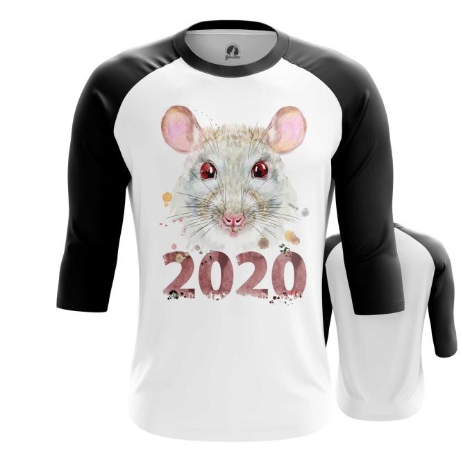 Merchandise Men'S Raglan Rat New Year 2020 Symbols