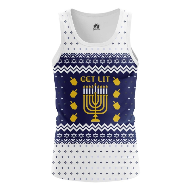 Merchandise Men'S Tank Hanukkah Jewish Festival Christmas Vest