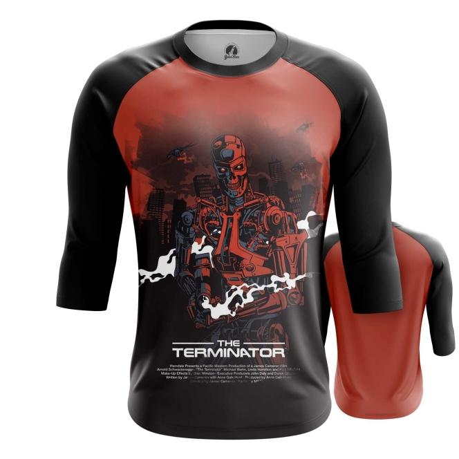 Collectibles Men'S Raglan Terminator Endoskeleton Robot