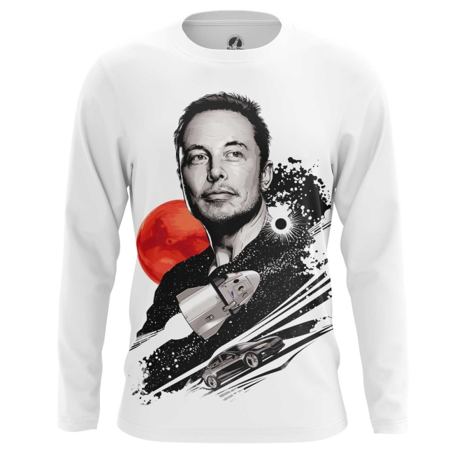 Collectibles Men'S Long Sleeve Elon Musk To The Stars