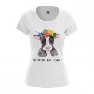 Merch Women'S T-Shirt Different But Equal Vegan Top