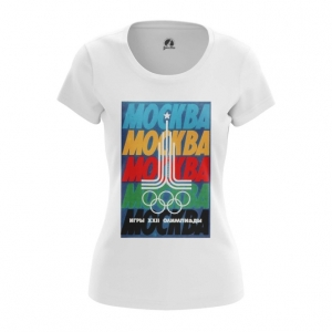 Merch Women'S T-Shirt Moscow 1980 Olympic Games Clothing Top
