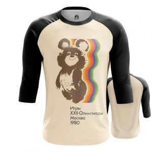 Merch Men'S Raglan Olympic Games 1980 Ussr Symbols Bear