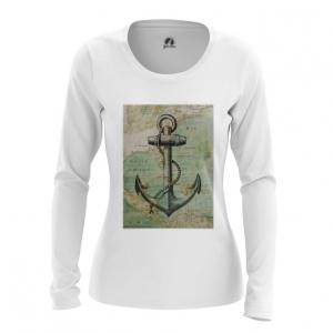 Collectibles Women'S Long Sleeve Sea Anchor Print