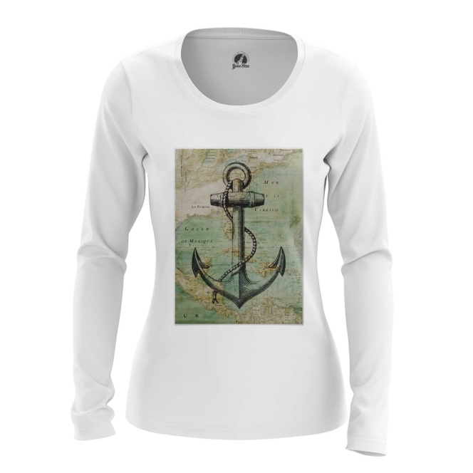 Merch Women'S Long Sleeve Sea Anchor Print