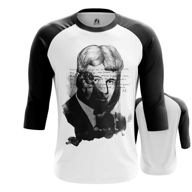 Merchandise Men'S Raglan Sergei Yesenin Black White Paint Cloth