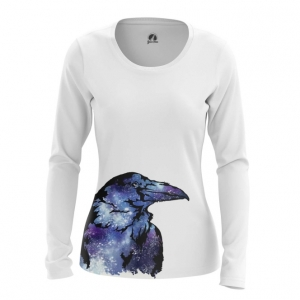 Collectibles Women'S Long Sleeve Raven Crow Print