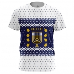 Collectibles - Men'S T-Shirt Hanukkah Jewish Festival Christmas Top