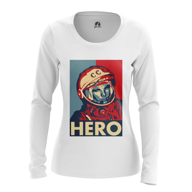 Merch Women'S Long Sleeve Hero Yuri Gagarin The Hero