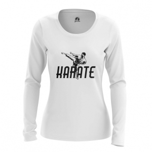 Merchandise Women'S Long Sleeve Karate Merch White