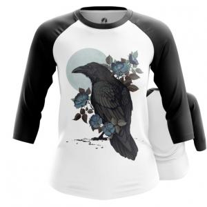 Collectibles Womens Raglan Ravens Print Raven