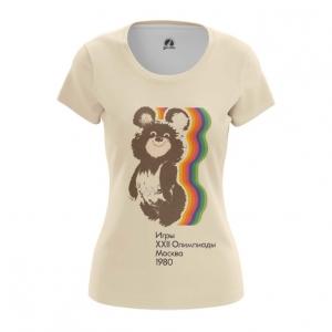Merch Women'S T-Shirt Olympic Games 1980 Ussr Symbols Bear Top