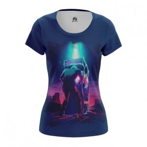 Merch Women'S T-Shirt Gunship Retrowave Top