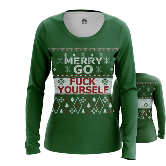 Collectibles Women'S Long Sleeve Merry Christmas Go Fuck Yourself