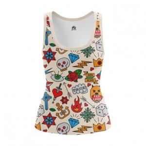 Merchandise Women'S Tank Retro Tattoo Clothing Print Vest