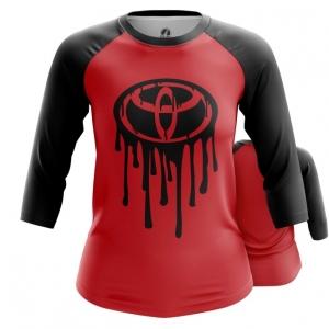Merch Women'S Raglan Toyota Logo Red