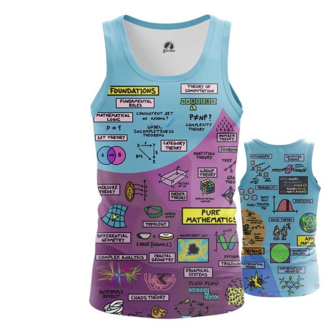 Merchandise Men'S Tank Math Science Print Vest