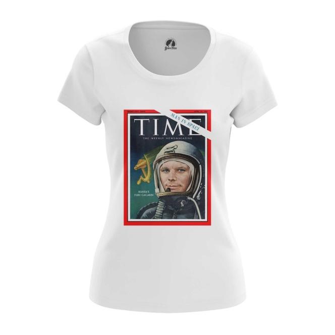 Merch Women'S T-Shirt Magazine Cover Time Yuri Gagarin Top