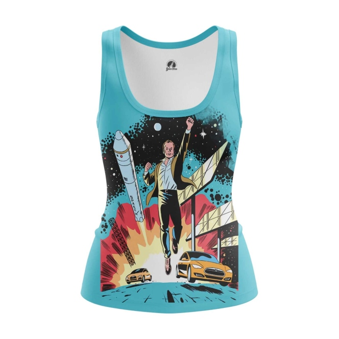 Merchandise Women'S Tank Space X Elon Musk Merch Vest
