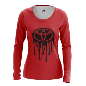 Merch Women'S Long Sleeve Toyota Logo Red