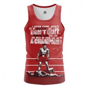 Merchandise - Mens Tank Muhammad Ali Quotes Clothing