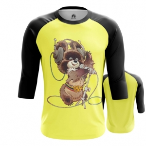 Merch Men'S Raglan Mascot Olympic Bear Ussr