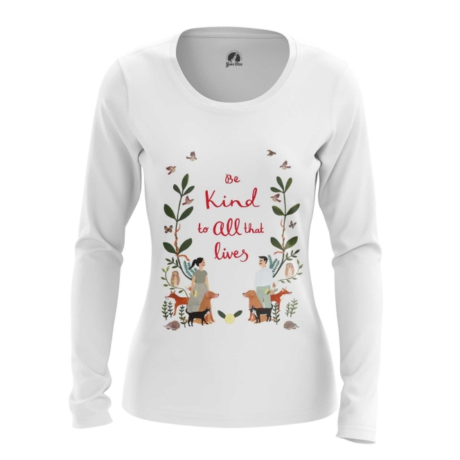 Merchandise Women'S Long Sleeve Be Kind Vegan