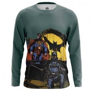 Collectibles Men'S Long Sleeve Steampunk Batman Superman
