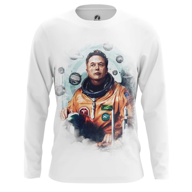 Merchandise Men'S Long Sleeve Astronaut Elon Musk Icon