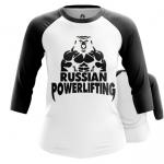 Collectibles - Women Raglan Powerlifting Russian Merch