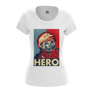 Collectibles Women'S T-Shirt Hero Yuri Gagarin The Hero Top