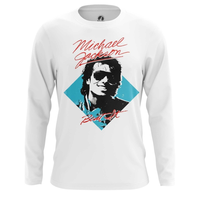 Merch Men'S Long Sleeve Beat It Michael Jackson Merch