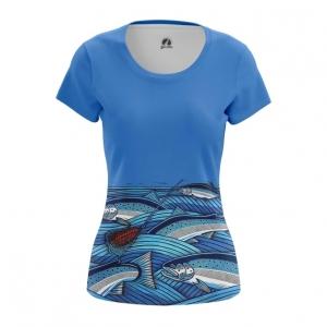 Merch Women'S T-Shirt Fish Print Fishing Top