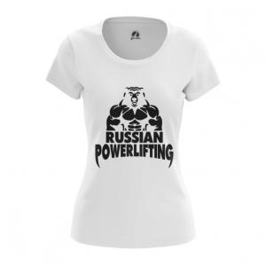 Merchandise Women'S T-Shirt Powerlifting Russian Merch Top