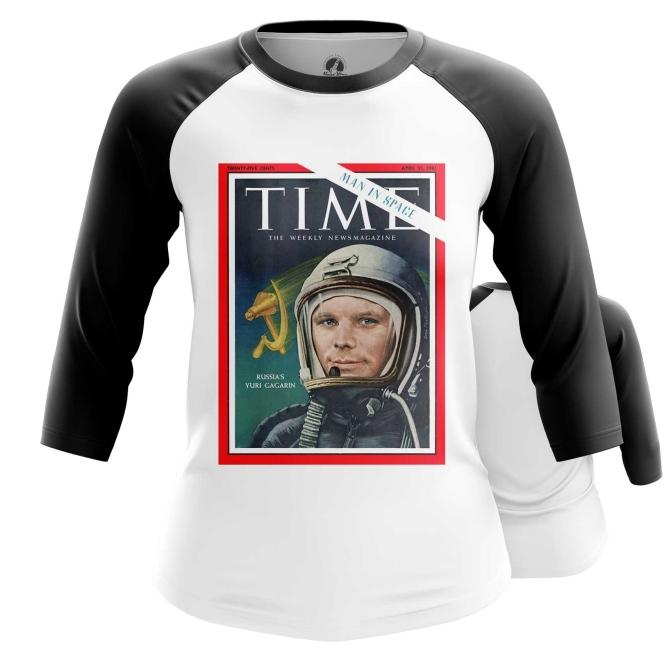 Merchandise Women'S Raglan Magazine Cover Time Yuri Gagarin