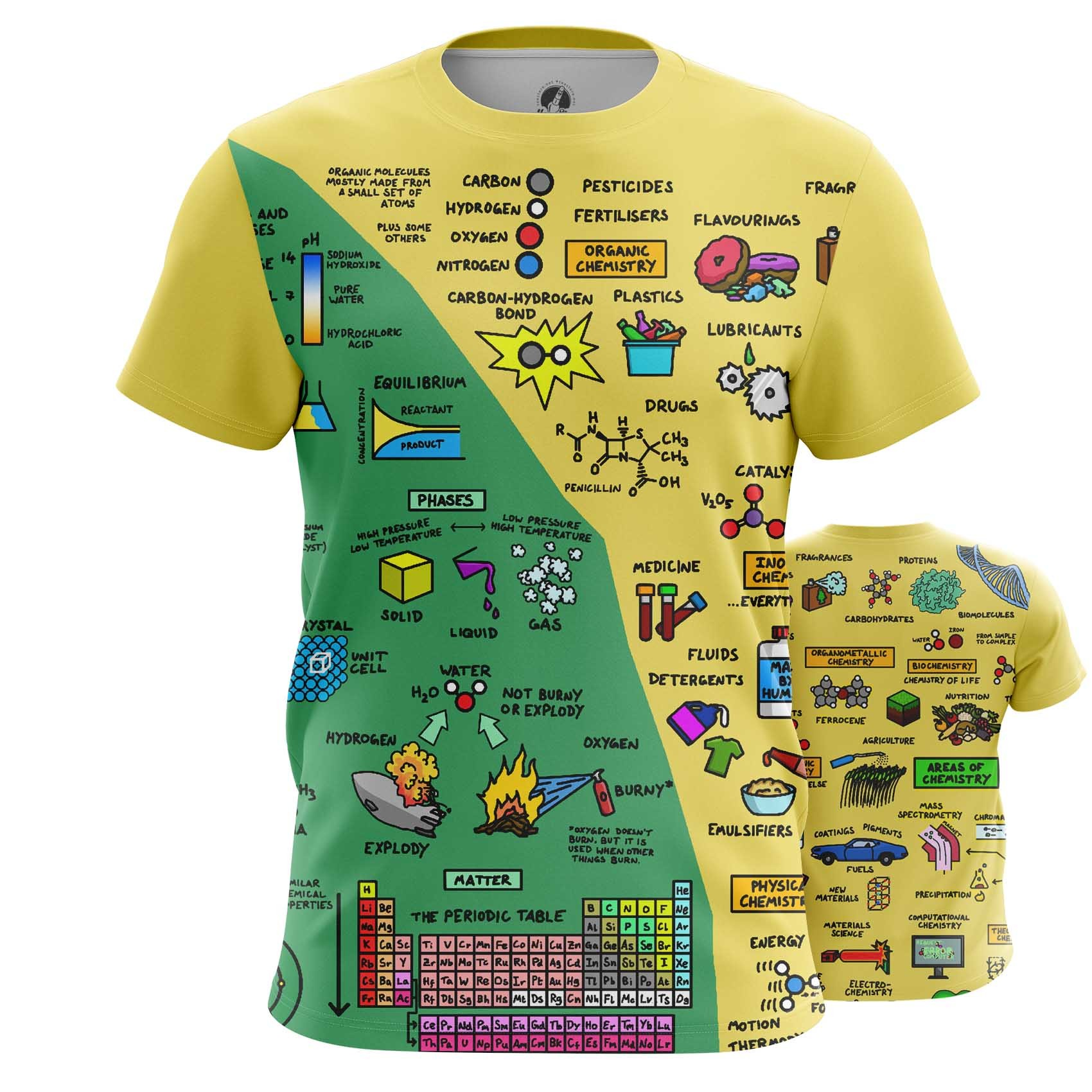 Merchandise Men'S Long Sleeve Chemistry Science Print