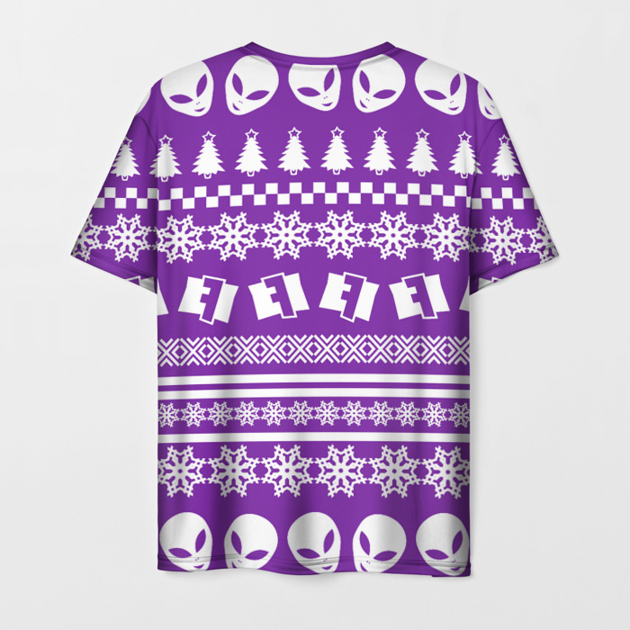 Collectibles T-Shirt Pattern Fortnite New Year Purple