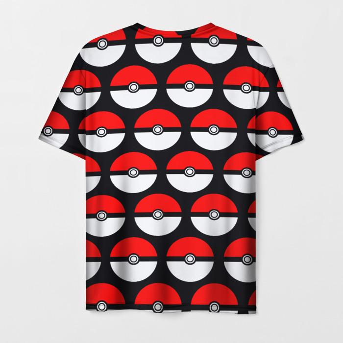 Collectibles T-Shirt Pokeball Pattern Black Pokemon