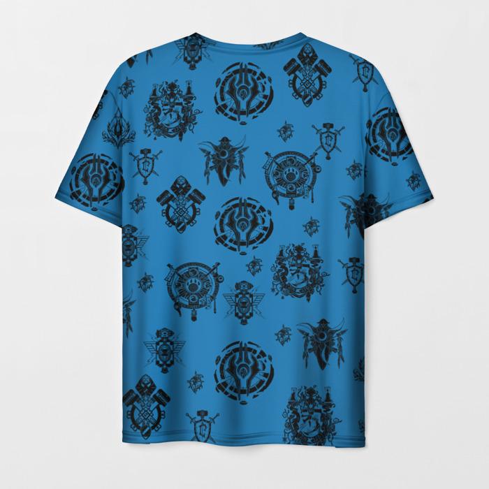 Merch T-Shirt World Of Warcraft Blue Pattern