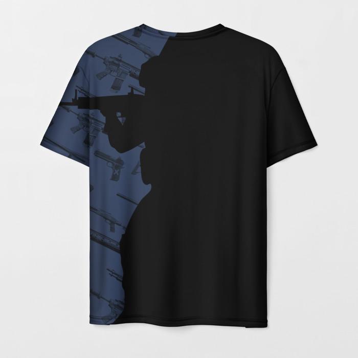 Merchandise T-Shirt Black Print Cs:go Title Design