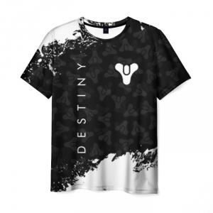 Collectibles T-Shirt Destiny Text Print Black