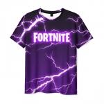 Collectibles - T-Shirt Fortnite Storm Print Purple