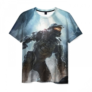 Merch T-Shirt Halo Print Character Game