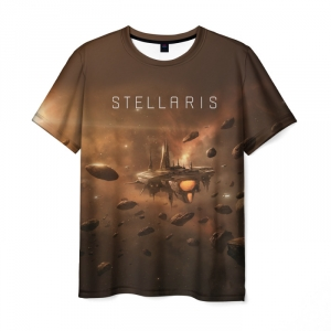 Collectibles T-Shirt Stellaris Brown Game Print