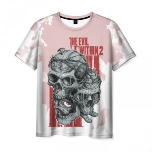 Merch T-Shirt The Evil Within 2 Fun Print Skulls