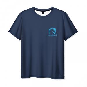 Merch T-Shirt Team Liquid Uniform Dota2 Blue