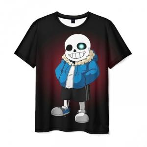 Merchandise T-Shirt Sans Undertale Art Print Black